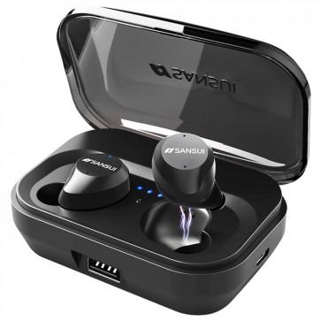 Pasonomi Wireless Earbuds Bluetooth Headphones IKANZI iPX7 Waterproof 72H Cycle Play Time, 2200mAh Bluetooth 5.0